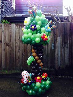 Árbol arte en globo