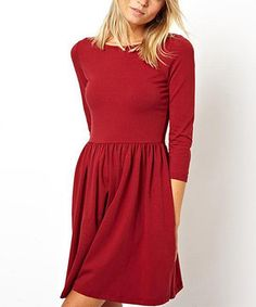 Love this Vivo Fashion Red Fit & Flare Dress by Vivo Fashion on #zulily! #zulilyfinds