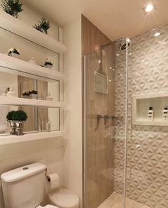 """12.6k Likes, 126 Comments - Home•decor•arq•house•int•casa (@_homeidea) on Instagram: """"Banheiro lindo e inspirador, com destaque para os revestimentos.  Amei! @pontodecor Projeto…"""""""