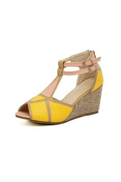 Contrast Peeptoe Platform Sandal--I would like these in a variety of colors please and thank you.