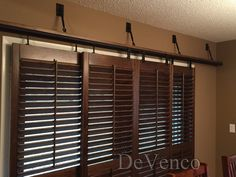 Rolling Plantation Shutters For Patio Doors - One of the characteristics that adds real value to a home is the patio area. Sliding Glass Door Shutters, Barn Door Window, Interior Window Shutters, Wooden Shutters, Interior Barn Doors, Sliding Doors, Glass Doors, Door Coverings, Door Window Treatments