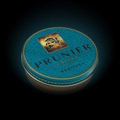 PRUNIER HERITAGE @ C4U Caviar, Black Diamond, Brand Identity, Appetizer, Packaging, Marketing, Canning, Chocolate, Food