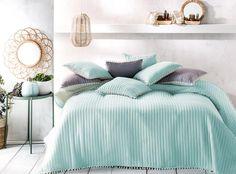 Přehoz na postel mentolový Hotel Bed, Bedding Sets, Comforters, Mint, Blanket, Luxury, Trendy, Furniture, Design