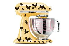 Kitchen mixer vinyl decal set 40 piece roosters, hens, chickens and eggs decal set via Etsy