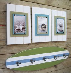 4 ft Surfboard Coatrack with Schoolhouse Hooks. .