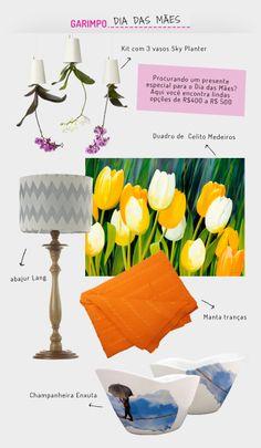 Presentes para o Dia das Mães. Veja: http://casadevalentina.com.br/blog/detalhes/presentes-para-o-dia-das-maes-2844 #details #interior #design #decoracao #detalhes #details #detalhes #gift #presente #casadevalentina