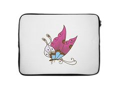 Colorful Butterfly Style 118 Laptop Sleeve Case Bag  13 Inch