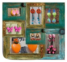 Earrings from RescuedOfferings.Etsy.com by rescuedofferings on Polyvore featuring art and EtsySpecialT