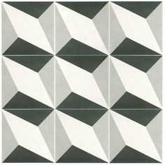 SomerTile 7.75x7.75-in Thirties Diamond Ceramic Floor and Wall Tile (Case of 25) - Overstock™ Shopping - Big Discounts on Floor Tiles