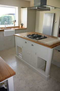 Painted in Farrow and balls stony ground this is our largest kitchen ...