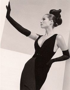 Christy Turlington in Valentino 1995 by Herb Ritts