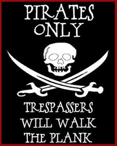 Pirate flag printable - maybe for the front door?
