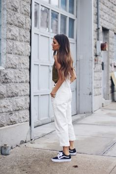 white overalls and vans