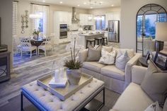 Richmond American Homes Arabelle model in Cadence, Henderson, Nevada. Richmond American Homes, Henderson Nevada, New Builds, Kitchen Decor, Backyard, Community, House Design, Couch, How To Plan