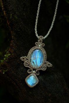 Amethyst Blue /& Green topaz sapphire Quartz Gemstone Argent Collier Pendentif