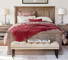 Linden Wood Paneled Bed | Pottery Barn