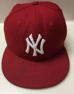 new concept b319d 4132b New Era 59Fifty New York Yankees Fitted Hat (Red White) Men s MLB Cap 7   fashion  clothing  shoes  accessories  mensaccessories  hats (ebay link)