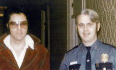 April 5, 1972  Elvis At the Statler Hotel in Buffalo, New York with Officer John O'Keefe.