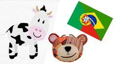 Los animales de la granja en portugués para niños