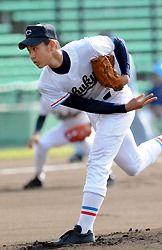 中京大中京の投手、堂林翔太。夏の甲子園の歴代名選手