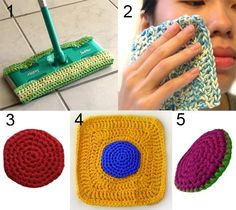 Nylon Cleaning Set  PDF Crochet Pattern  von CrochetSpotPatterns