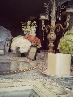 Decoración de Arte Flor con productos de Alquibodas! Vintage