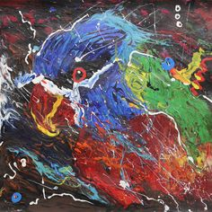 "ALEXANDER MAJER ""Animal 3"" 34x34cm 2015 - acrylic on paper"