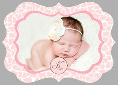 LUXE Baby Birth Announcement Photoshop PSD Photo Card Template for Photographers - Girl Vol 17, 1 of 3 - Millers, Whcc or Mpix. $4.50 USD, via Etsy.