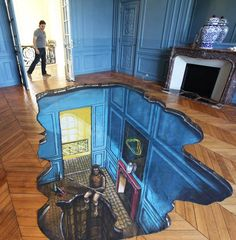 A selection of beautiful creations of 3D Joe and Max, between anamorphosis, illusion and 3Dstreet art! Sadly,Max Lowy had died in 2010, but Joe Hillnow co