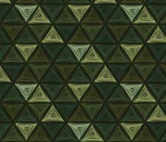 triangles green fabric by glimmericks on Spoonflower - custom fabric