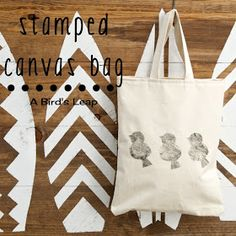 A Bird's Leap: DIY Bird Stamped Canvas Tote