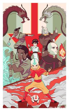 Heroes of the Nation by http://eriklyart.tumblr.com/post/112895849012/my-gallery-nucelus-avatar-korra-show-submission