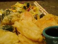 Gluten-free TEMPURA VEGETABLES - This gluten free version uses simple rice flour to fry up the veggies of your choice. I'll be tossing some sweet potatoes into my oil, I think. The simple dipping sauce has just 5 ingredients, and you might even have all of them just right on hand.