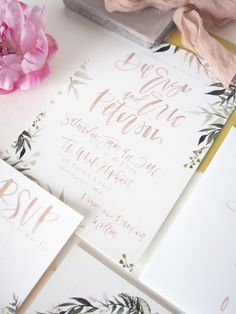 hand lettering invitation and rsvp | a fabulous fete