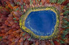 Fotógrafo aéreo retrata mudanças climáticas da natureza