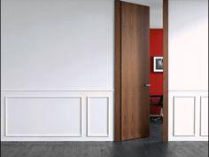 Puertas de diseño, puertas modernas sofisticadas y creativas para viviendas de lujo. Puerta interior modelo Filo, de Lualdi.