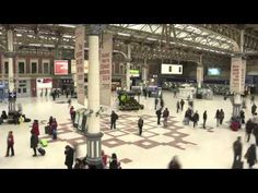 Ad for Lynx body spray in Victoria Station uses augmented reality displayed on a large screen. An angel appears next to the person. This is a brilliant way to get people to interact with a space and a screen as it is non-traditional and breaks the expectations of standard advertising. Also utilises multi-sensory engagement.