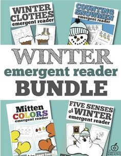 Save big with this winter emergent reader BUNDLE of 4 of our most popular winter emergent readers for your guided reading groups! This bundle has each book in COLOR and B/W!: Here are the books included:  ★Mitten Colors Emergent Reader ★ Winter Clothes Emergent Reader ★5 Senses of Winter Emergent Reader ★Snowmen Counting with One-to-One Correspondence Emergent Reader