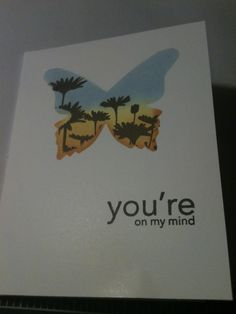 Butterfly Clean and Simple card