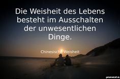 Die Weisheit des Lebens besteht im Ausschalten der unwesentlichen Dinge. ... gefunden auf https://www.geheimekraft.de/spruch/4