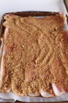 Million Dollar Bacon Recipe | Bacon with brown sugar, cayenne and red pepper flakes! Million Dollar Bacon Recipe, Millionaires Bacon, Breakfast Dishes, Breakfast Recipes, Breakfast Ideas, Brunch Ideas, Brunch Menu, Brunch Dishes, Breakfast Club