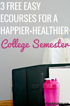You want to start your new semester on the right foot, right? Want to be your healthiest you at  university, but not sure how? Get your sleep, stress, weight, and more in check with these three amazing free email courses for  a happier and healthier college semester. All you need is an email address and 7 days to get access to amazing lessons, worksheets, resources, a helpful community, and more! Click  through to find out more about each!
