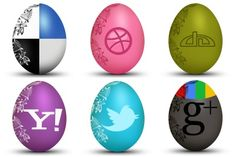 Egg Social Icons - Artwork by Land-of-Web Social Network Icons, Social Icons, Website Icons, Eggs, Artwork, Easter, Windows, Beautiful, Work Of Art