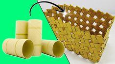 ¿Qué hacer con Tubos de cartón ? || Manualidades Recicladas || Ecobrisa Toilet Paper Roll Crafts, Diy Paper, Recycle Paper, Recycled Crafts Kids, Diy And Crafts, Rolled Paper Art, Paper Basket, Craft Projects, Quotes Amor
