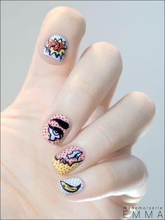 Le blog de Mademoiselle Emma: Sunday Nail Battle - Pop-Art