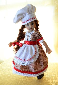 "SOLD ""Baking Holiday Cookies""Dress,Outfit,Clothes for 13""Effner Little Darling-Lumi"