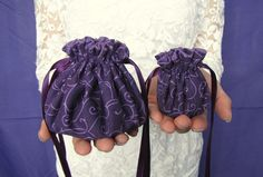 """Individual compartments inside these bags will separate and protect your jewelry.  One bag to put in your suitcase when you travel and one bag to keep in your purse or gym bag.  A wonderful set!  Over 250 colors to choose from.  Shown:  """"Purple Pop"""" set $14.25 @IslandJewelryBags.com #Jewelry Bags"""