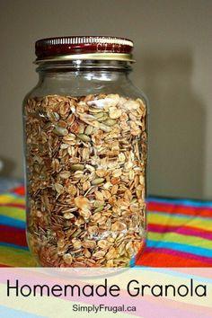 Homemade granola...