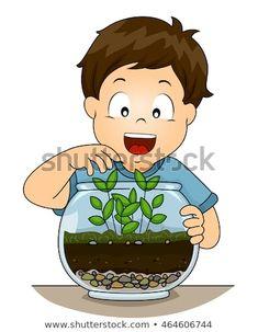 Illustration of a Little Boy Checking His Terrarium Green Bodies, Cartoon Kids, Luigi, Little Boys, Illustration, Clip Art, Silhouette, Anime, Fictional Characters