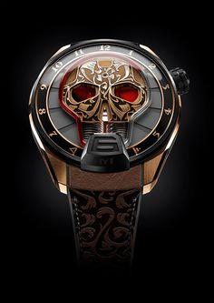 A skull as a time display? The Skull Maori is also of popular dead .- Ein Totenschädel als Zeitanzeige? Die Skull Maori ist ebenso von populärer Tot… A skull as a time display? The Skull Maori is … - Brm Watches, Fine Watches, Sport Watches, Gents Watches, Amazing Watches, Beautiful Watches, Cool Watches, Beautiful Life, Stylish Watches
